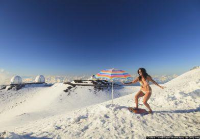 Increíble: Tormenta invernal azota a Hawaii